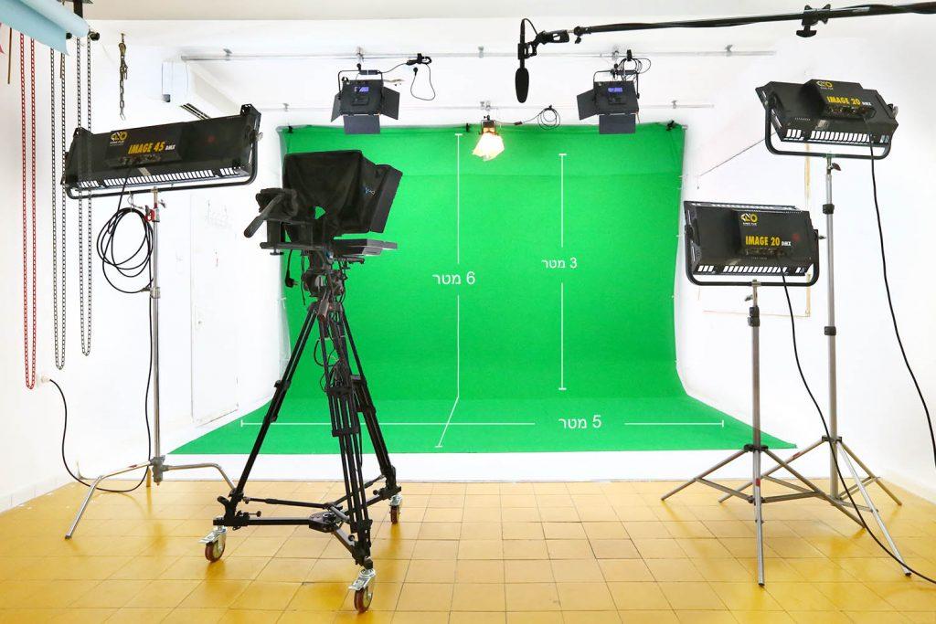 סטודיו צילום להשכרה - גרין סקרין - אולפן ירוק